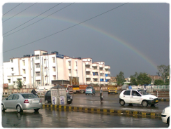 Rainbow at Delhi