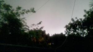 An evening at Delhi, India