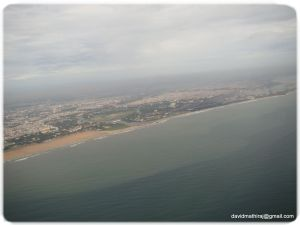 ChennaiBeach from the sky