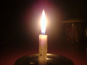 Candle in my Dinning Table